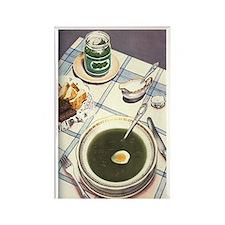 Vintage Russian Soup Rectangle Magnet