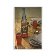 Vintage Russian Tomato Juice Rectangle Magnet