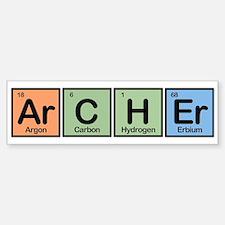 Archer made of Elements Bumper Bumper Bumper Sticker
