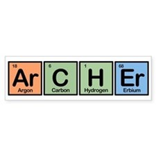 Archer made of Elements Bumper Bumper Sticker