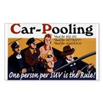 Carpooling Rectangle Sticker