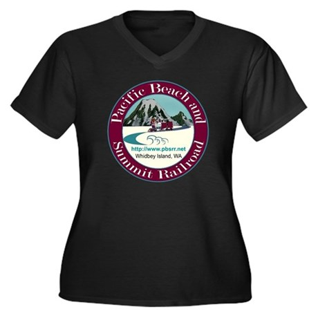 PB&S RR Women's Plus Size V-Neck Dark T-Shirt