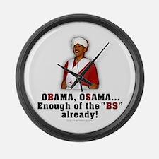 Obama Osama Cut the BS Large Wall Clock
