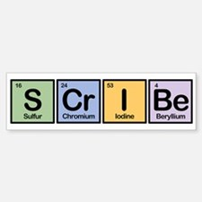 Scribe made of Elements Bumper Bumper Bumper Sticker