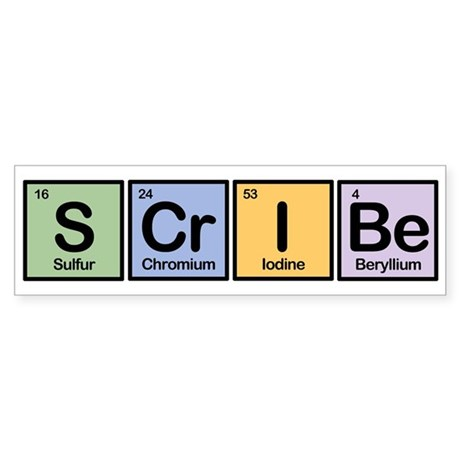 Scribe made of Elements Bumper Sticker