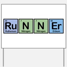 Runner made of Elements Yard Sign