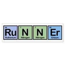 Runner made of Elements Bumper Bumper Sticker
