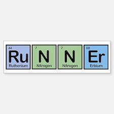 Runner made of Elements Bumper Bumper Stickers
