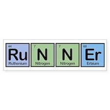 Runner made of Elements Bumper Car Sticker
