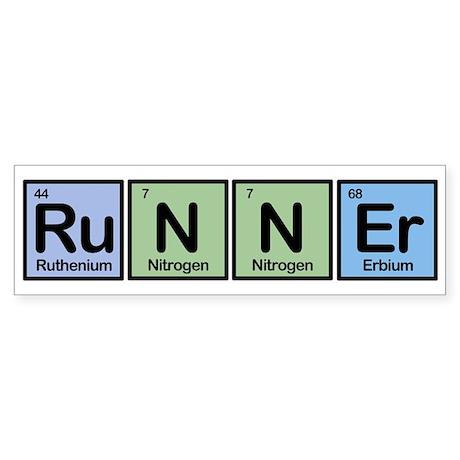 Runner made of Elements Bumper Sticker
