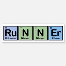 Runner made of Elements Bumper Stickers