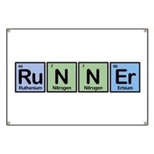 Runner made of Elements Banner