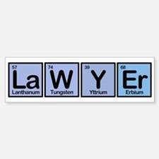 Lawyer made of Elements Bumper Bumper Bumper Sticker
