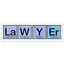 Lawyer made of Elements Bumper Bumper Sticker