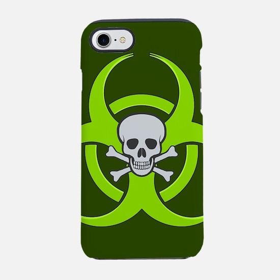 Green Biohazard Skull iPhone 7 Tough Case