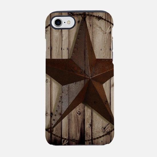 western texas star wood grain iPhone 7 Tough Case