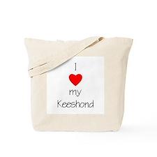 I Love My Keeshond Tote Bag