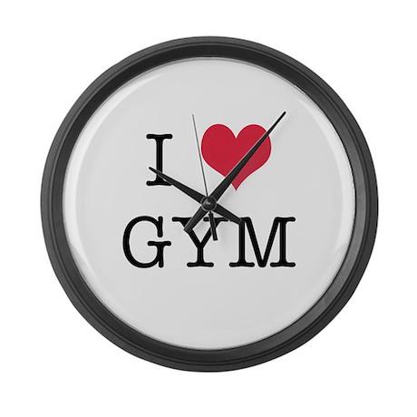 I Heart Gym Large Wall Clock