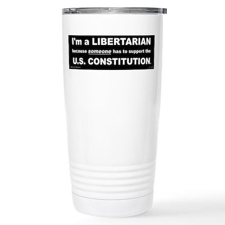 Libertarian Party Stainless Steel Travel Mug