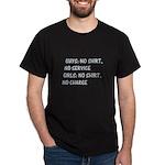 Girls: no shirt, no charge Black T-Shirt