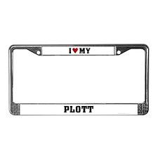 I Love My Plott License Plate Frame