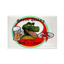 Bayou Billy's Rectangle Magnet
