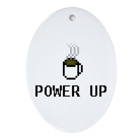 Power Up Oval Ornament