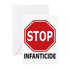 Stop Infanticide Greeting Cards (Pk of 20)