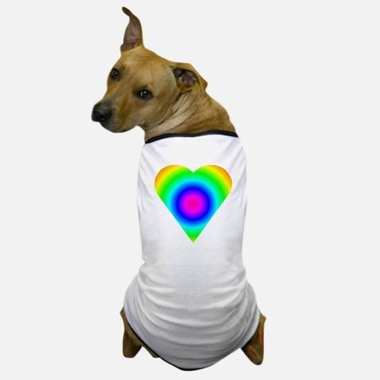 Trippy Heart 8 Dog T-Shirt