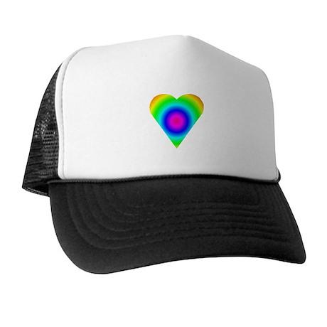 Trippy Heart 8 Trucker Hat