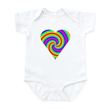 Trippy Heart 6 Infant Bodysuit