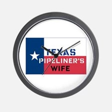 Texas Pipeliner's wife Wall Clock
