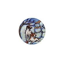 POINTER Xmas snowman design Mini Button