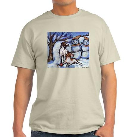 POINTER Xmas snowman design Ash Grey T-Shirt