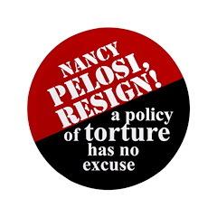 """Pelosi, Resign! 3.5"""" Button (100 pack)"""