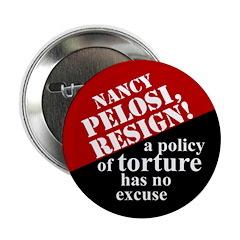 """Pelosi, Resign! 2.25"""" Button (100 pack)"""