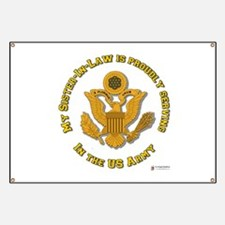 Army Sister-in-Law Gold Banner