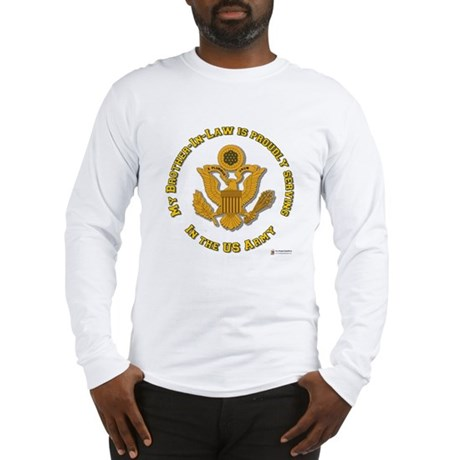 Army Brother-in-Law Gold Long Sleeve T-Shirt