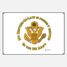 Army Brother-in-Law Gold Banner