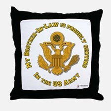 Army Brother-in-Law Gold Throw Pillow