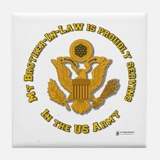 Army Brother-in-Law Gold Tile Coaster