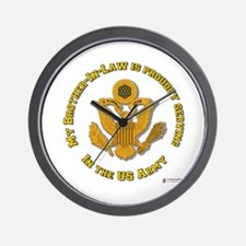 Army Brother-in-Law Gold Wall Clock