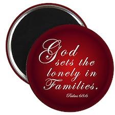 "God sets the Lonely... 2.25"" Magnet (100 pack"