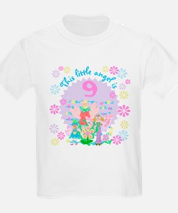Angel 9th Birthday Kids T-Shirt