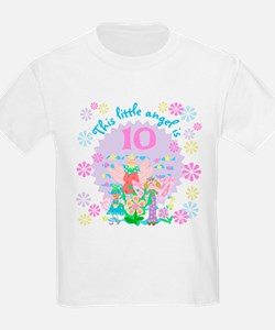 Angel 10th Birthday Kids T-Shirt