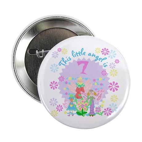 Angel 7th Birthday Button