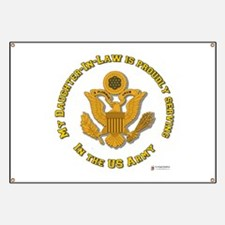 Army Daughter-in-Law Gold Banner