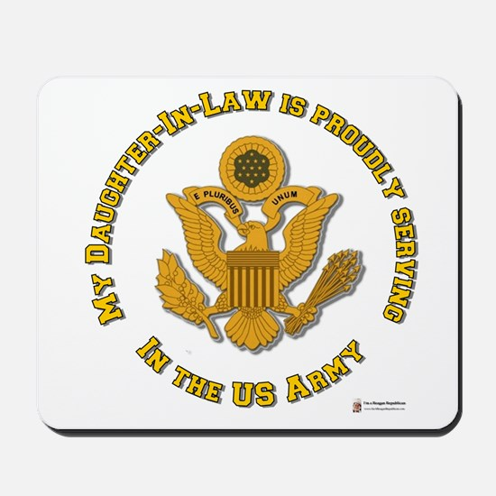 Army Daughter-in-Law Gold Mousepad
