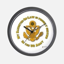 Army Daughter-in-Law Gold Wall Clock