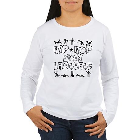 Hip Hop Sign Language Women's Long Sleeve T-Shirt